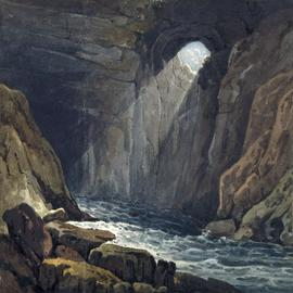 The opening of the cave at Porth-yr-Ogof
