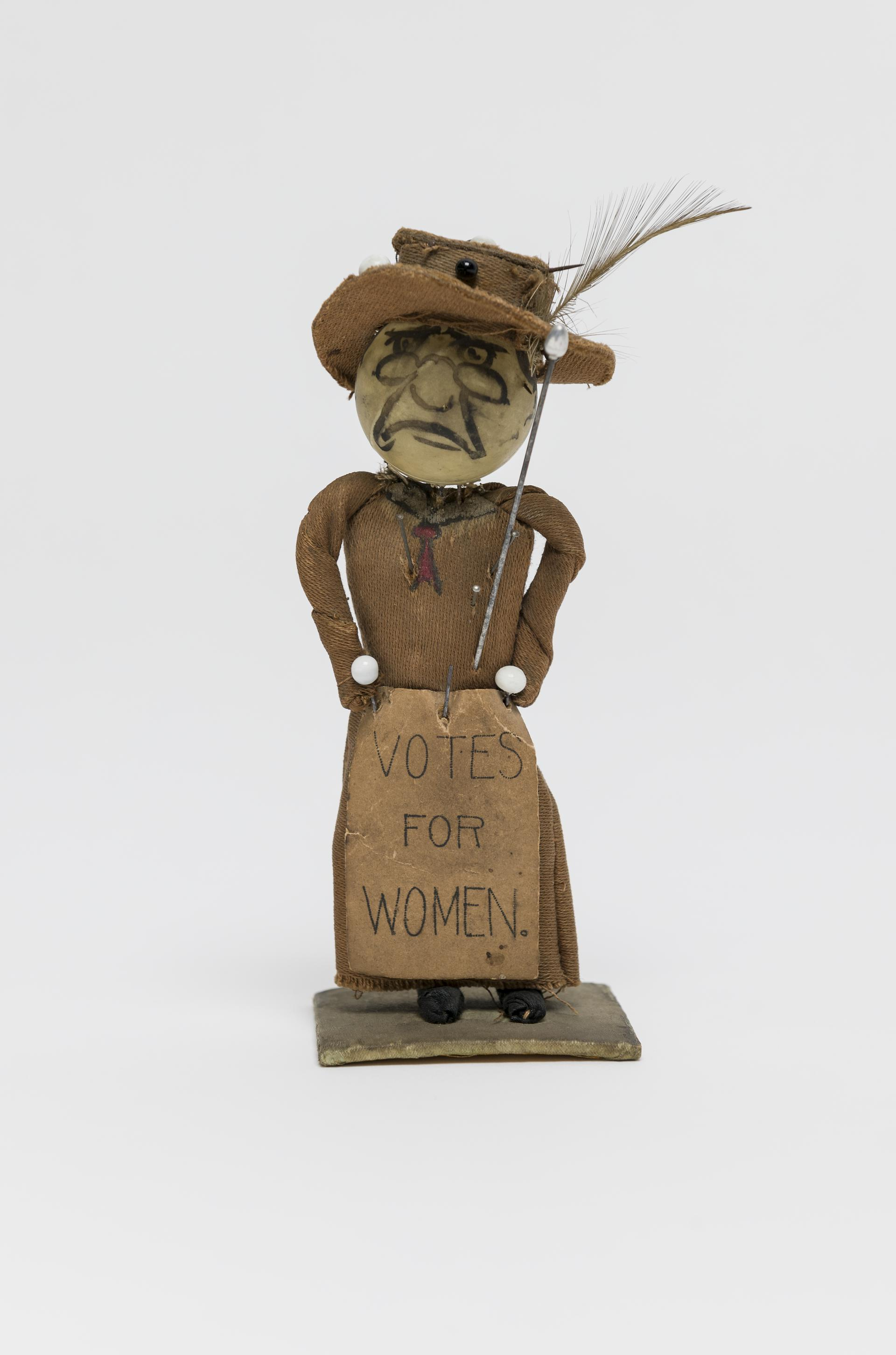 anti-suffragette doll