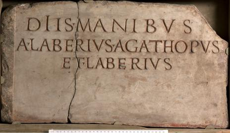 Memorial stone of Anonius Laberis Agathopus and Laberius