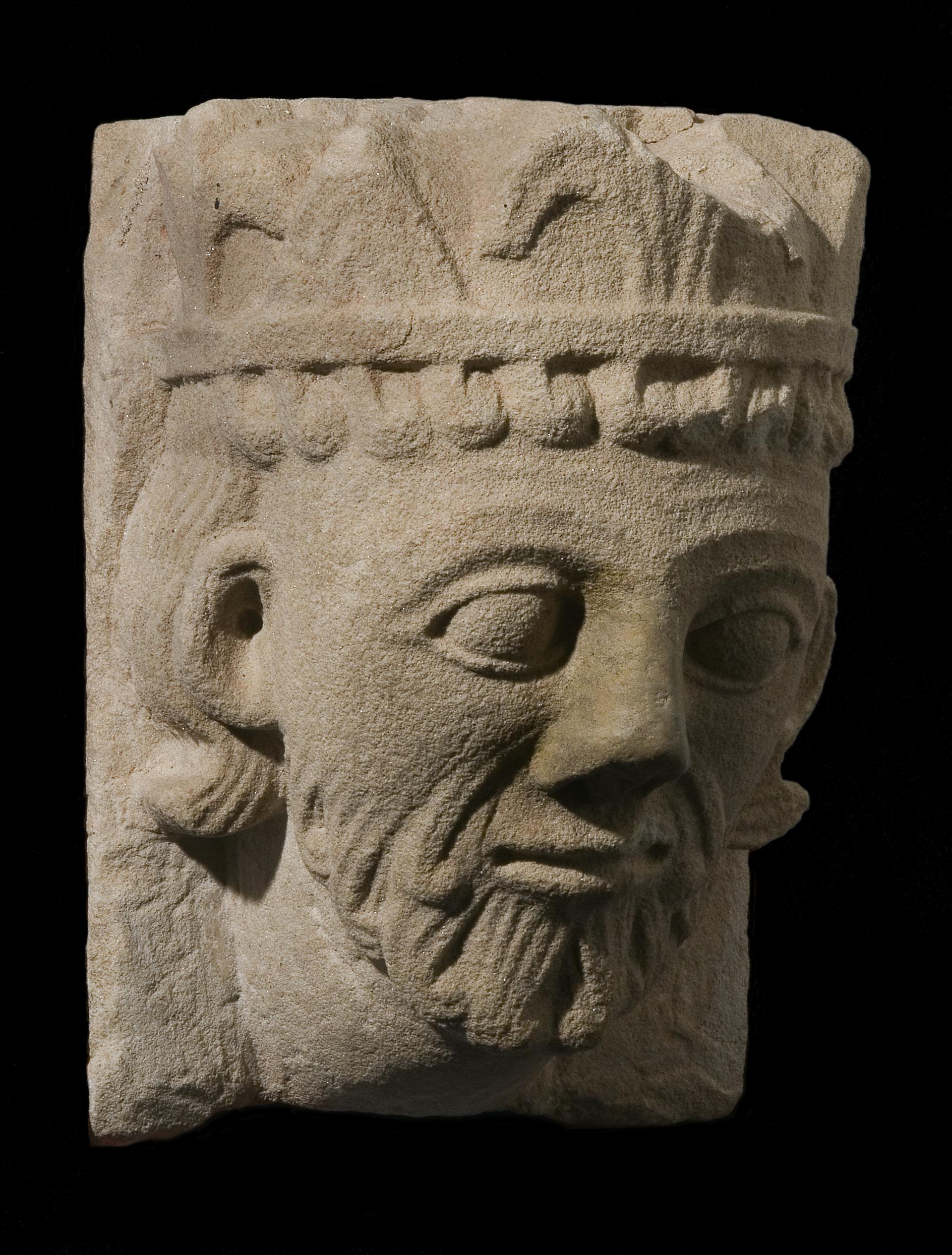 Medieval stone carved head collections online national museum