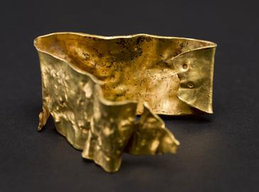 Middle Bronze Age - gold crushed armlet