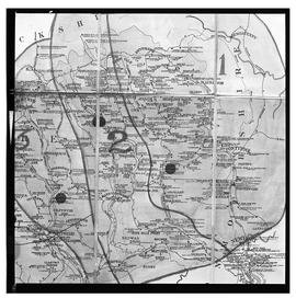 South Wales coalfield map, film negative