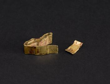 Late Bronze Age - gold bracelet & ribbon fragment