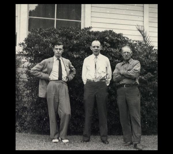 Collectors Robert Tucker Abbott, Bill Clench and Emery Chace - San Pedro, 1940.