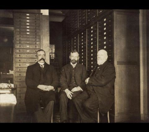 The collectors  Phillipe Dautzenberg, Charles Hedley and Henri Fischer - Paris, October 1912.