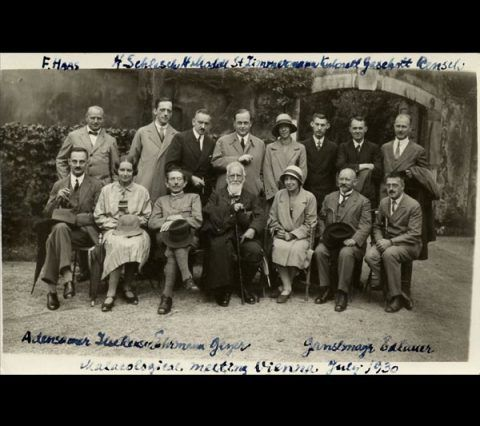 Photograph of a meeting in Vienna, July 1930.
