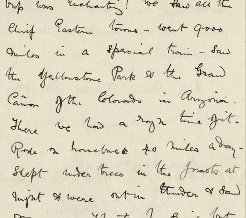 Letter from C. Hughes describing his holiday in America, 19 April 1892