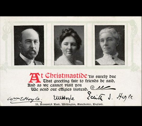 A Christmas card from William Evens Hoyle, the first director of Amgueddfa Cymru, 1909-1926.