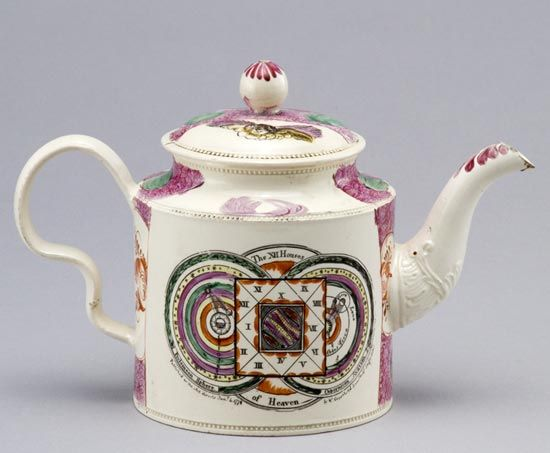 Creamware teapot, made by William Greatbatch, Staffordshire, about 1778. Purchased 1902.