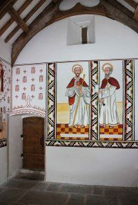 From left: Saint Dewi, or David, and St Teilo