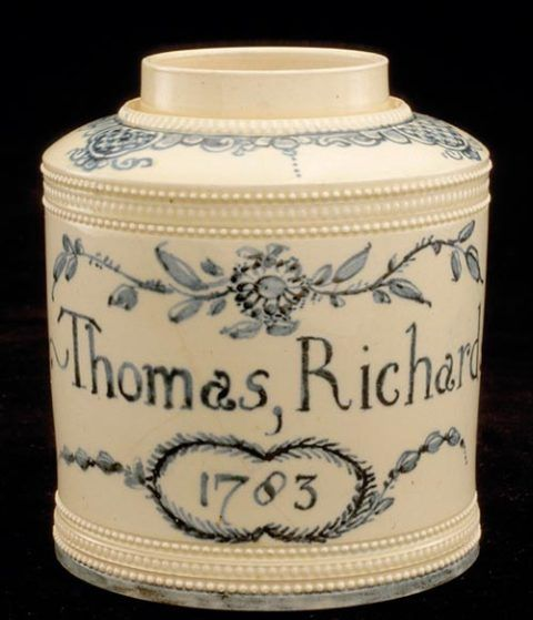 Tea jar or canister, Swansea, 1783