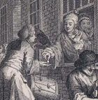 Detail of William Hogarth, 'Industry and Idleness: The Industrious 'Prentice Married', 1747
