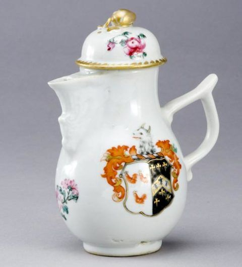 Cream jug, Chinese porcelain, c. 1771.
