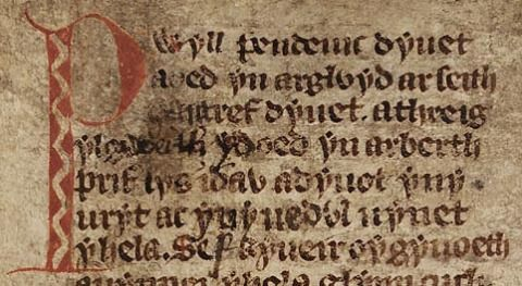 An extract from the White Book of Rhydderch, mid 14th century