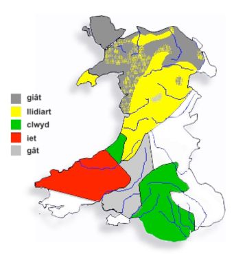 Welsh dialect words for gate
