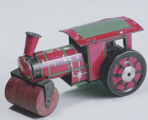 Toy steamroller made by Glamtoys Ltd