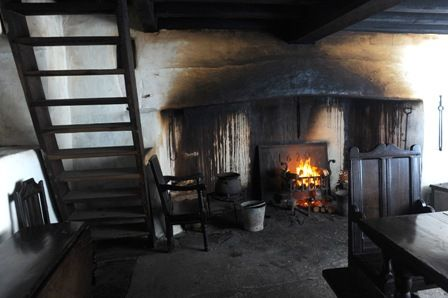 Interior view of Garreg Fawr Farmhouse at St Fagans National History Museum