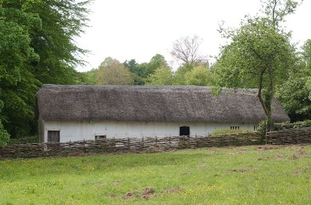An interpretation of Hendre'r-ywydd Uchaf Farmhouse in the time of the Tudors at St Fagans National History Museum