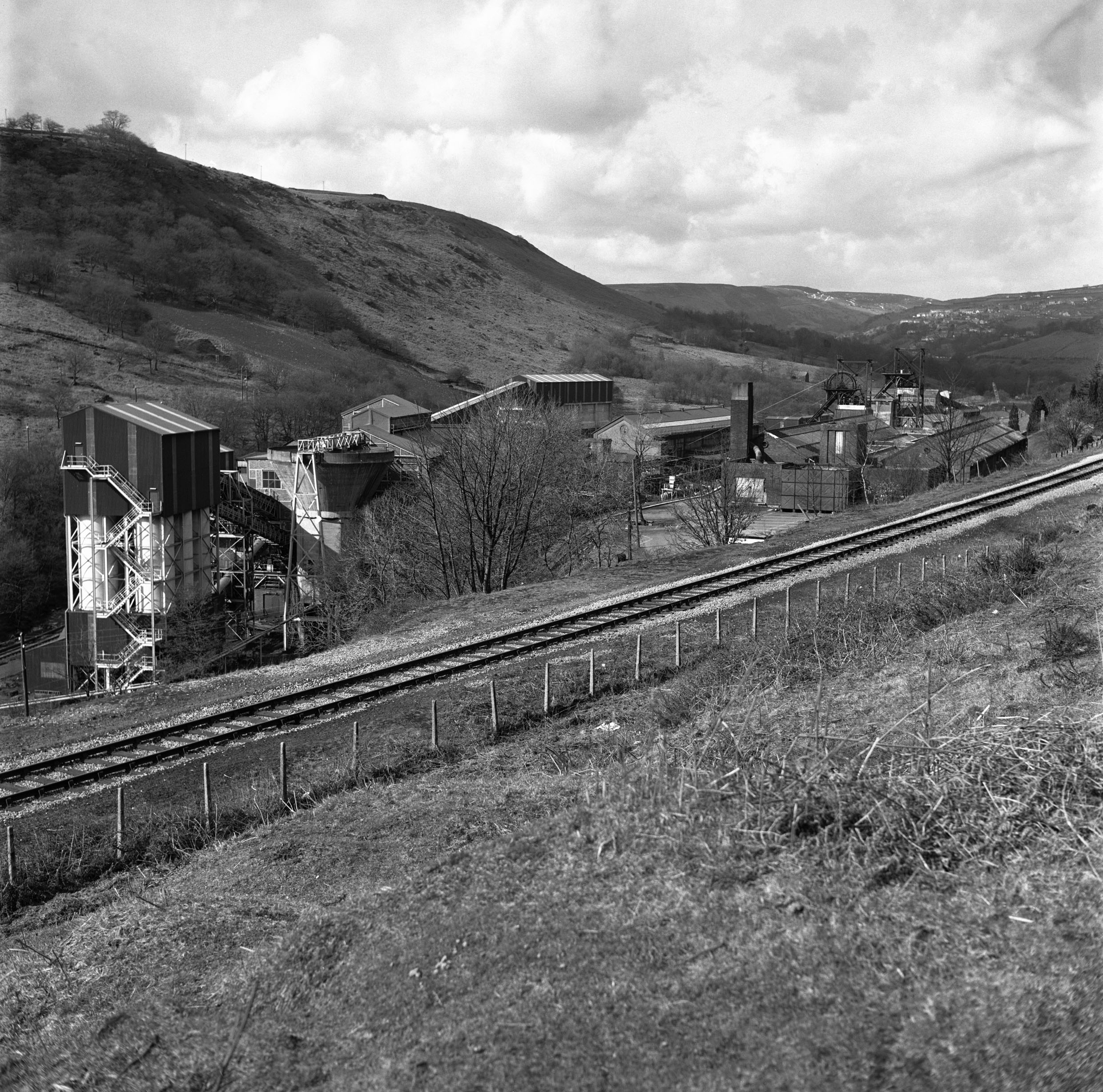 Taff Merthyr Colliery in the late 1970s.