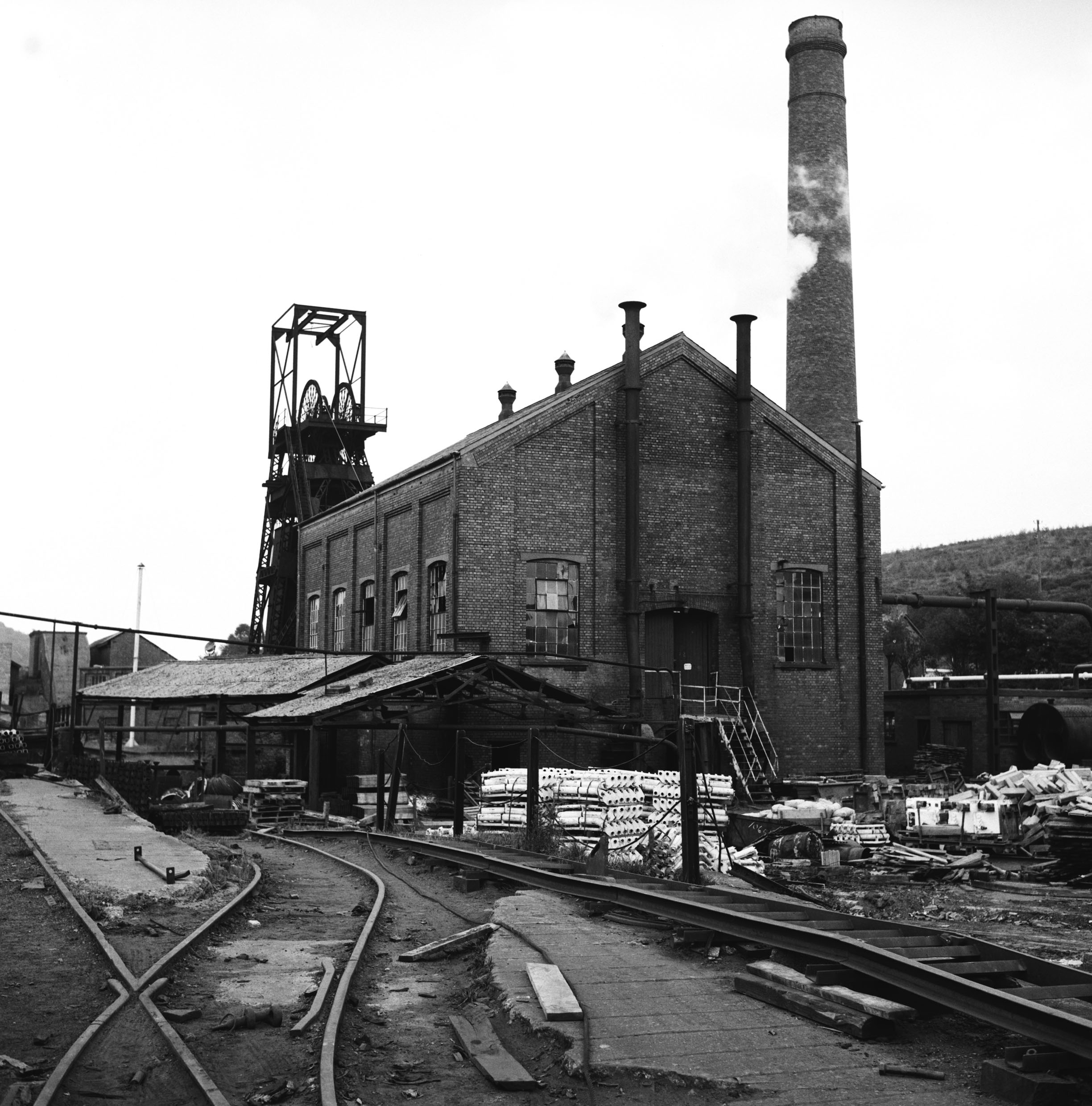 Cefn Coed Colliery engine house for the Markham engine on the upcast shaft 1973.