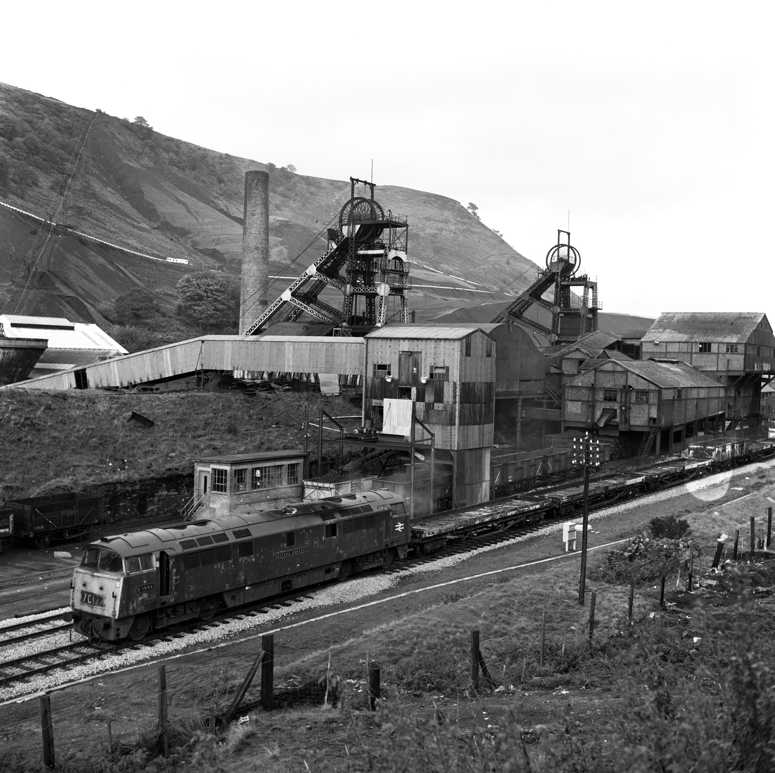 Marine Colliery, 1974, a 'Western' class locomotive - the 'Western Consort'.