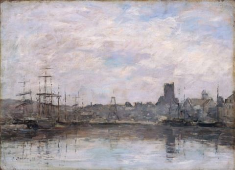 Boudin, Louis Eugene. September Morning: Port of Fecamp. (1880)