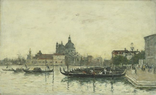 Boudin, Louis Eugene. Venice, the Molo. (1895)