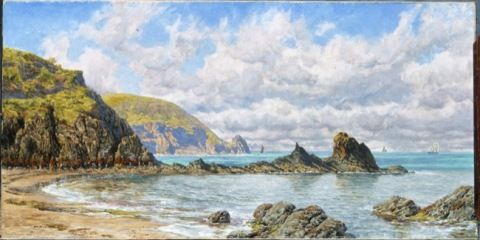Brett, John. Forest Cove, Cardigan Bay. (1883)
