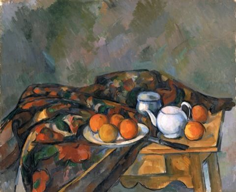Paul Cézanne, Paul. Still life with teapot.