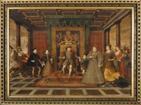 Heere, Lucas de. The family of Henry VIII: an allegory of the Tudor Succession.