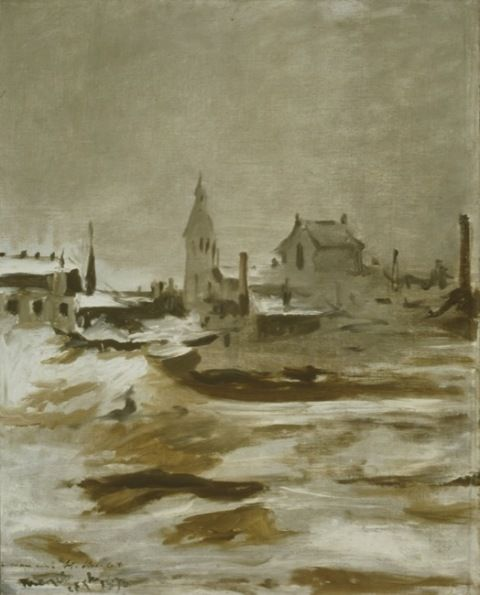 Manet, Edouard. Effect of snow at Petit-Montrouge. (1870)