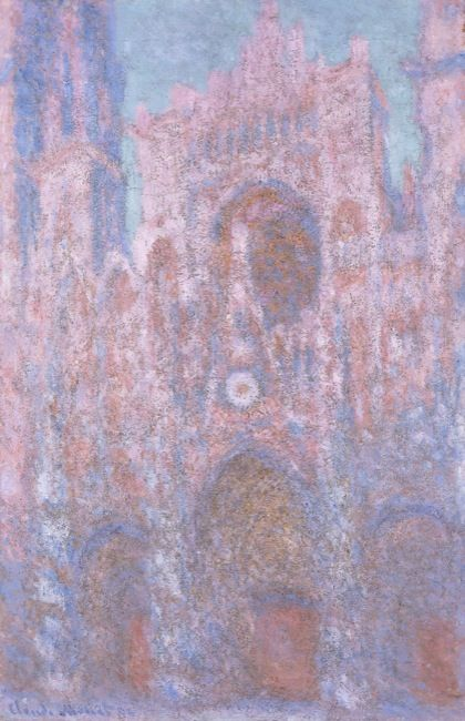 Monet, Claude. Rouen Cathedral: setting sun. (1892-1894)