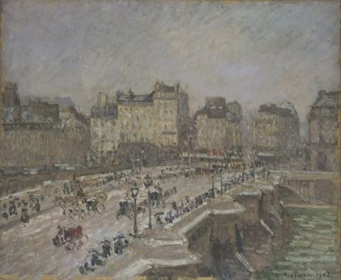 Pissarro, Camille. Pont Neuf, Snow Effect, 2nd series. (1902)