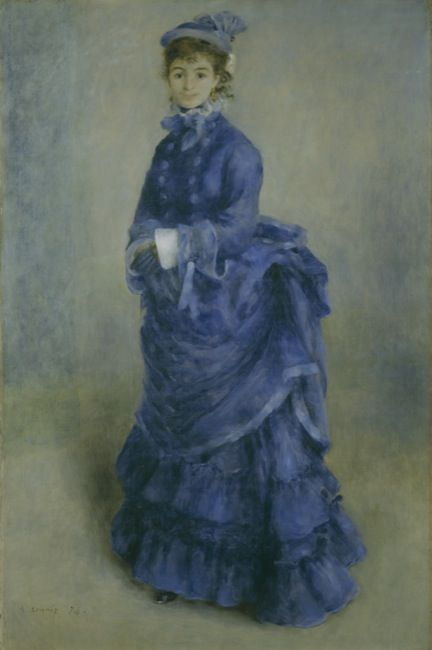Renoir, Pierre-Auguste. La Parisienne, The blue lady. (1874)