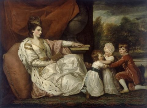 Reynolds, Joshua. Charlotte (Grenville), Lady Williams-Wynn (1754-1830) and her children. (18th century)