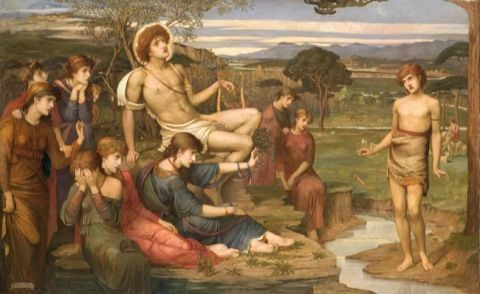 Strudwick, John Melhuish. Apollo and Marsyas. (1879)
