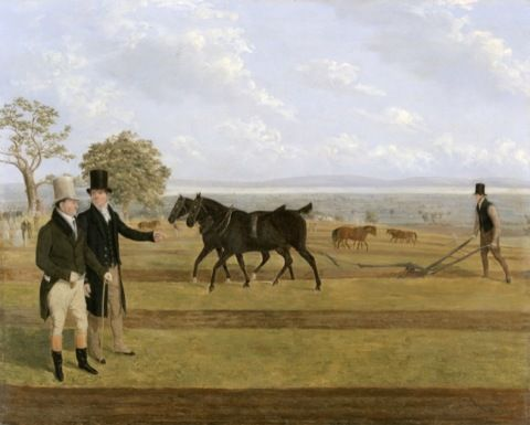 Mullock, James Flewitt. Sir Charles Morgan at the Castleton ploughing match. (1845)