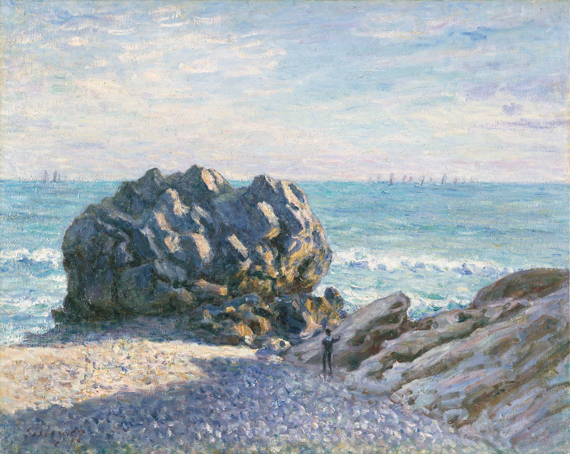 Sisley, Alfred. Storr Rock, Lady's Cove, le soir. (1897)
