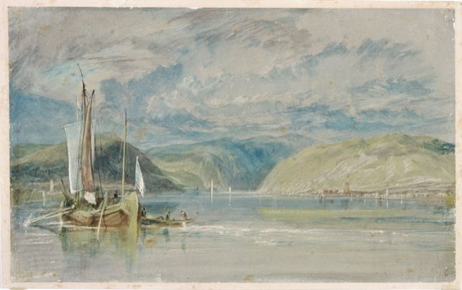 Turner, Joeseph Mallord William. Looking towards the Binger Loch. (1817)