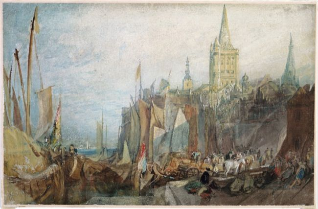 Turner, Joseph Mallord William. Rhine Gate, Cologne. (1817)