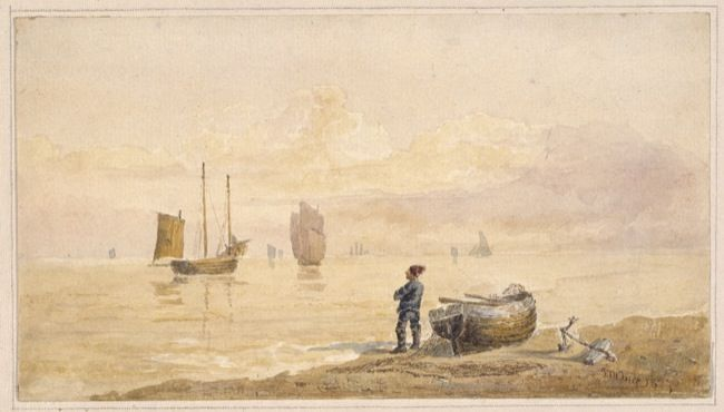 Ince, Joeseph Murray. Calm evening off Hastings. (1827)