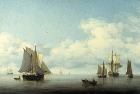 Brooking, Charles. Seascape with shipping. (1870)