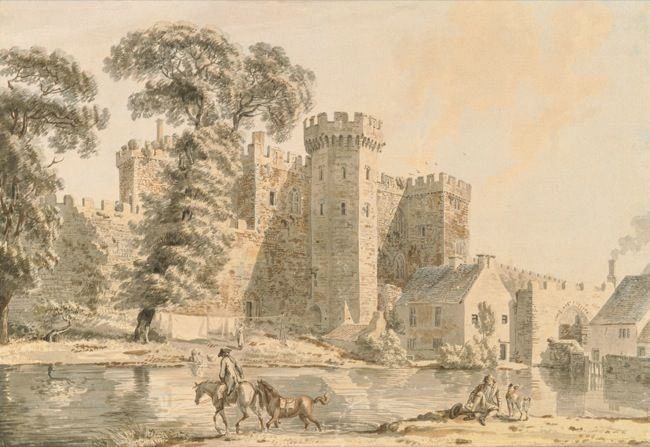 Sandby, Paul. The South gate of Cardiff Castle. (1775)