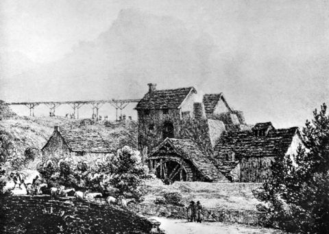 blast furnaces at Clydach Ironworks, 1813