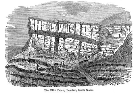 The earliest coal and ironstone mines were