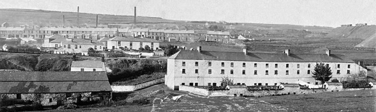 4.	The Ebbw Vale Company built many rows of homes for its workers, Gantra Row, intended for colliers, accommodated one family in the upper two floors of each house and another in the basement.