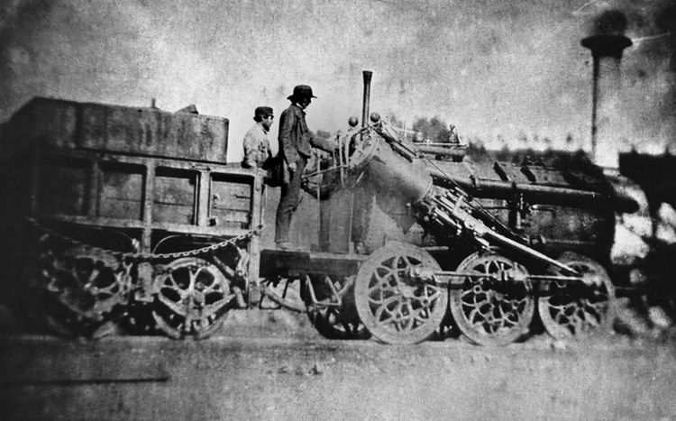 Tredegar Iron Company's locomotive 'St David' in 1854.