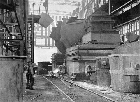 750-ton hot metal receiver in the Bessemer Steel Works