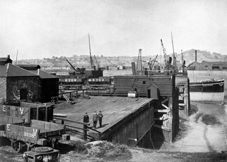 The company owned four wharves at Newport to import iron ore and pit props and to export iron and steel