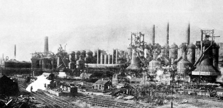 The new Nos. 4 and 5 blast furnaces at Victoria produced 2,750 tons a week each.